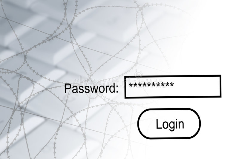Secuity do Internet ilustração stock