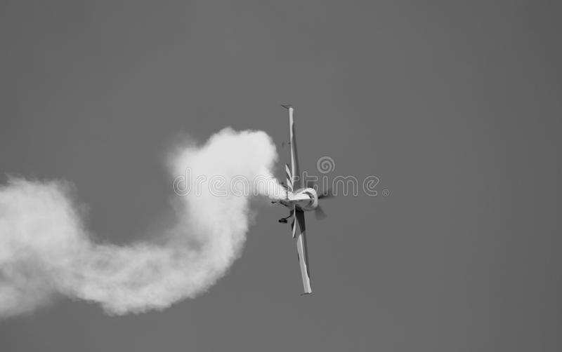Secuk-Ephesus-Izmir Air Festival. This is an acrobacy aircraft. The shot was taken at Secuk-Ephesus-Izmir Air Festival. The drop is under record royalty free stock photography