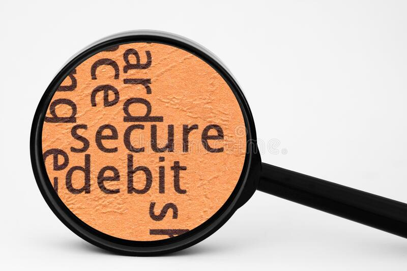 Secure. A Close up of Secure royalty free stock photography