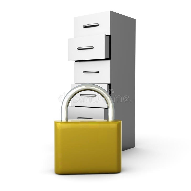 Download Secure Archive stock illustration. Image of metal, lock - 20508432