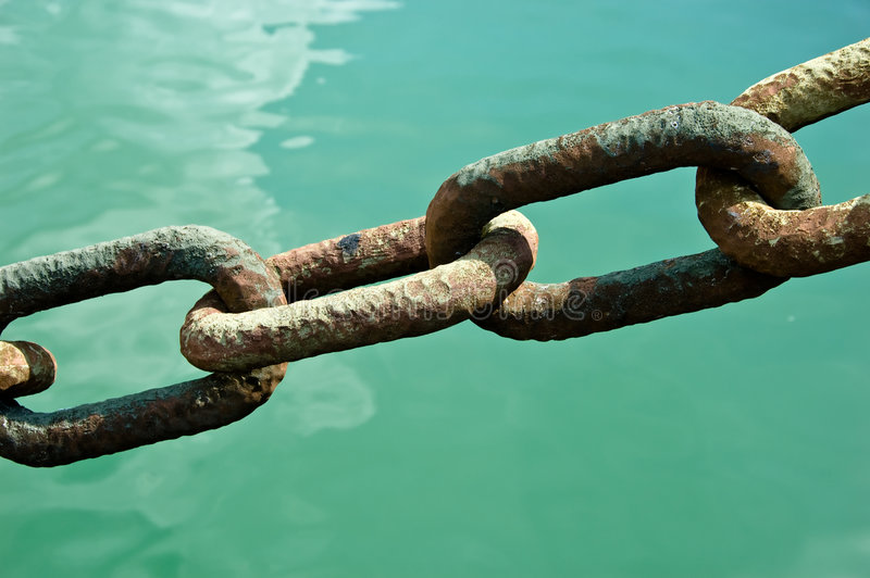 Secure Chain Link Teamwork royalty free stock photos