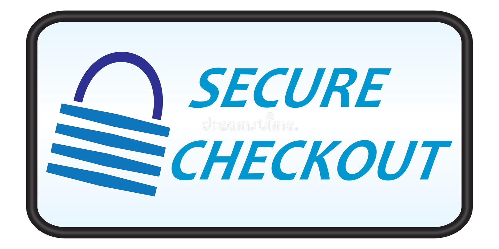 Secure Checkout Icon. Secure checkout Logo, Icon for web and print use stock illustration