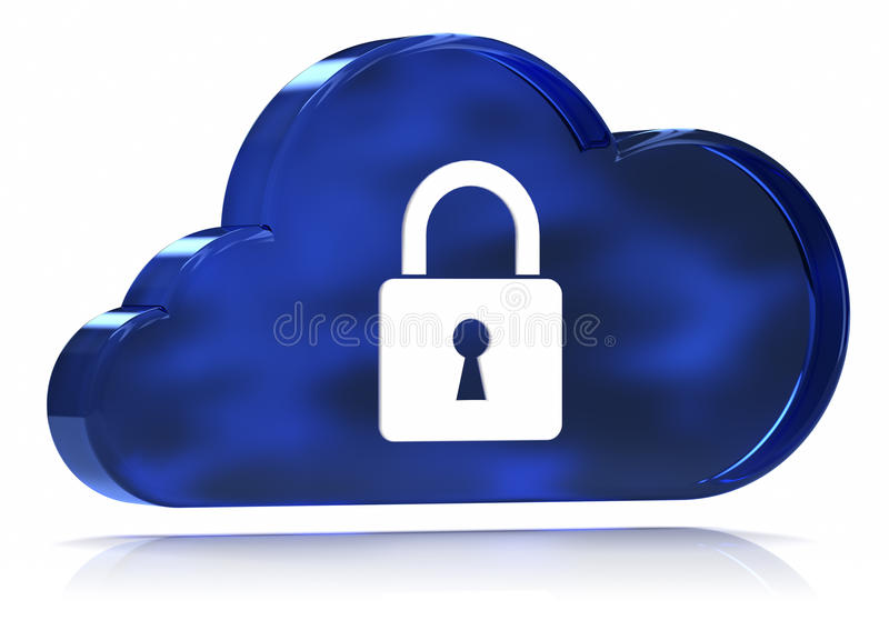 Download Secure Cloud Computing stock illustration. Illustration of privacy - 22431011