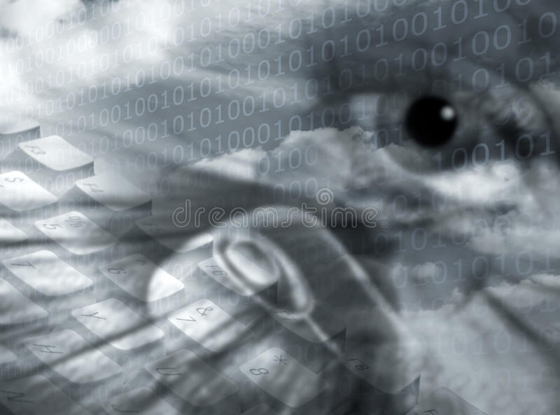 Secure communications vector illustration