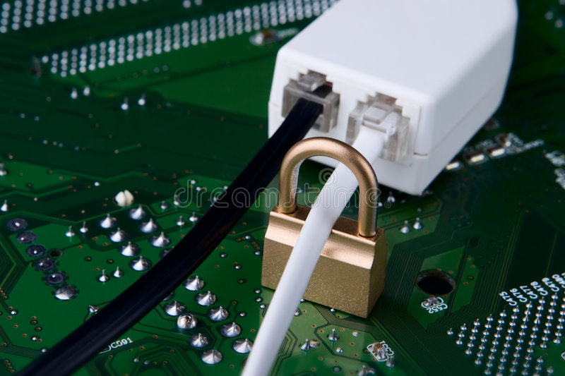 Secure connection and unsecure one concept royalty free stock images