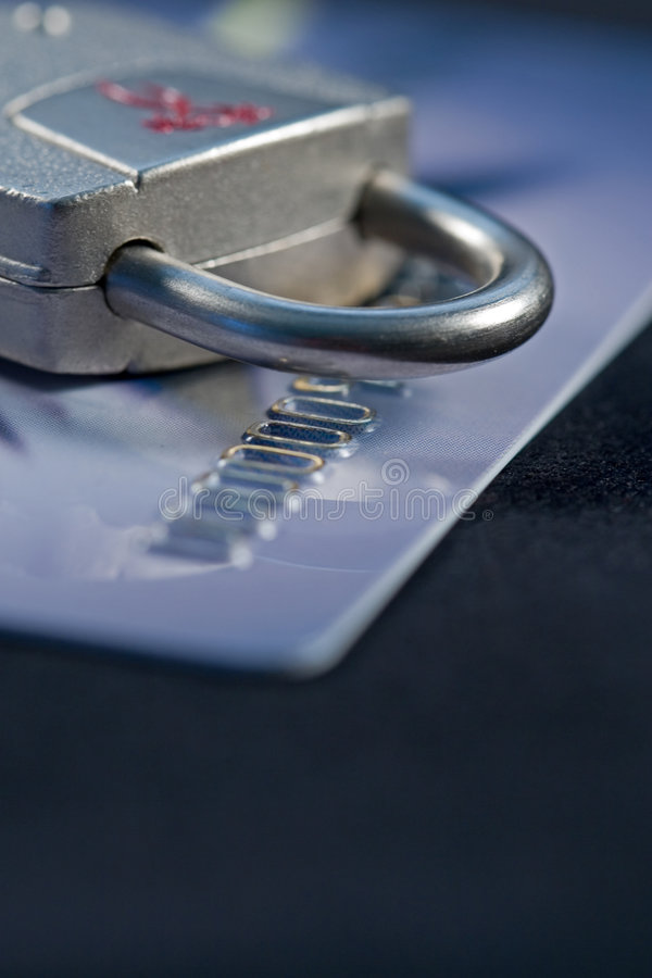 Secure Credit royalty free stock photography