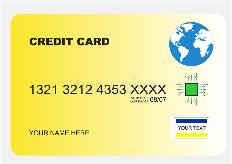 Download Secure credit card stock vector. Image of euro, checking - 2026473