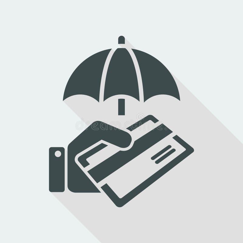 Secure credit card - Minimal vector icon vector illustration