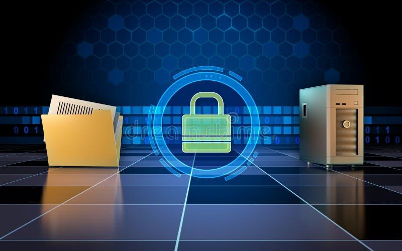 Secure data transfer vector illustration