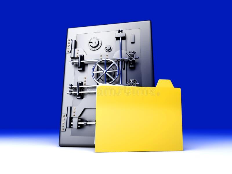 Download Secure Directory stock illustration. Illustration of deposit - 22173272