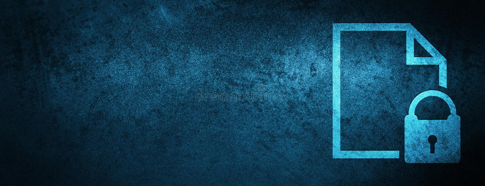Secure document icon special blue banner background royalty free illustration