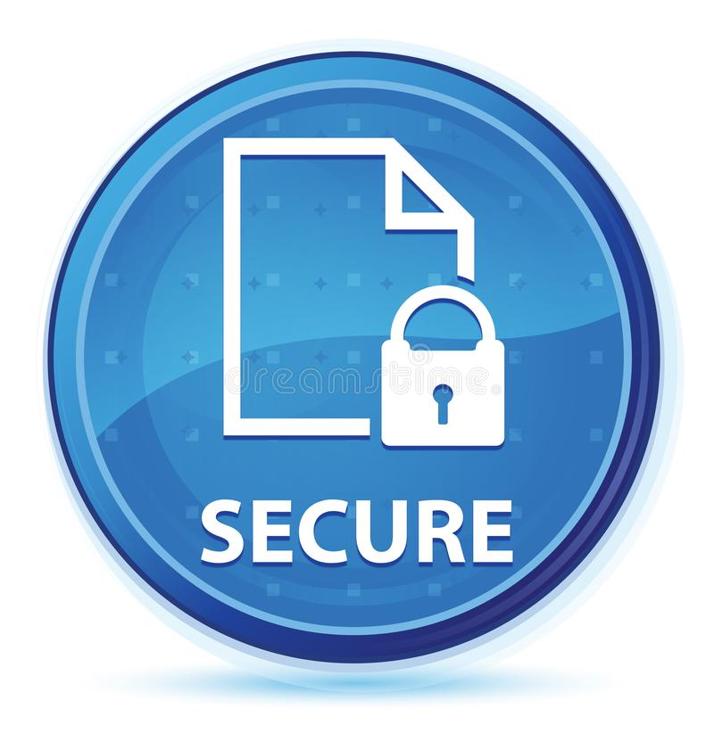 Secure (document page padlock icon) midnight blue prime round button royalty free illustration