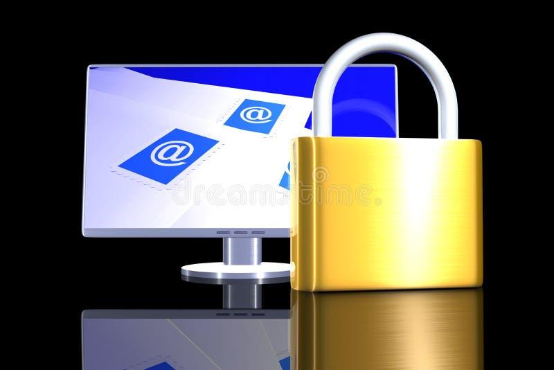 Download Secure Email communication stock illustration. Image of padlock - 6359329