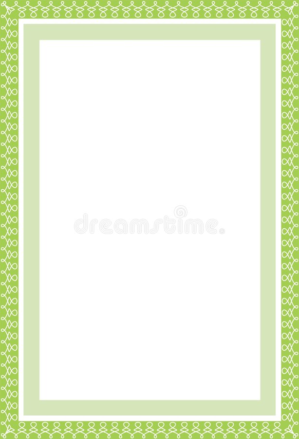 Secure green border in A4. Vector secure green border in format A4. Also in EPS format