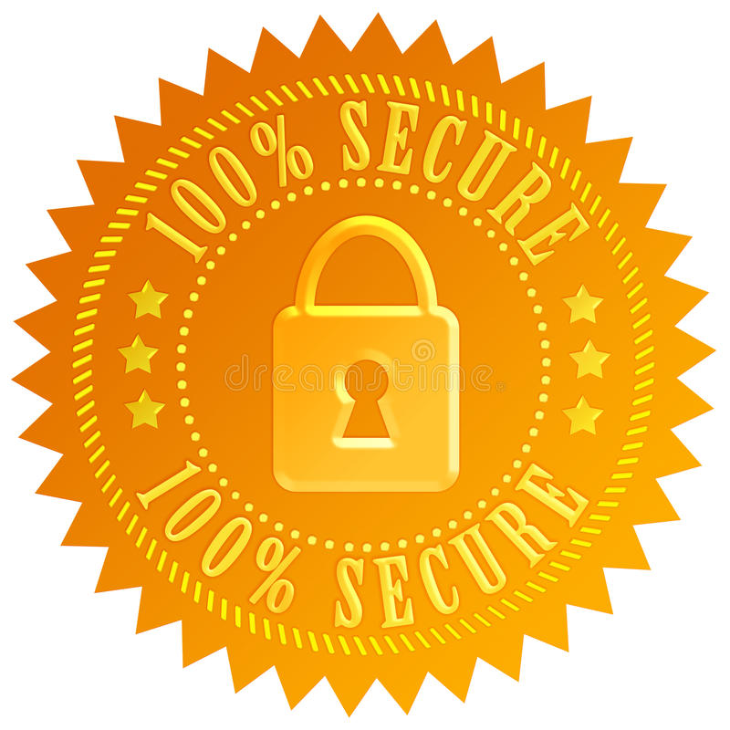 Download Secure icon stock illustration. Image of guarantee, assurance - 24610387
