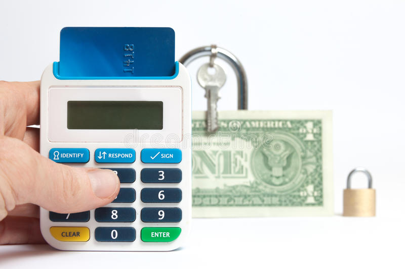 Secure Internet Banking Royalty Free Stock Photography