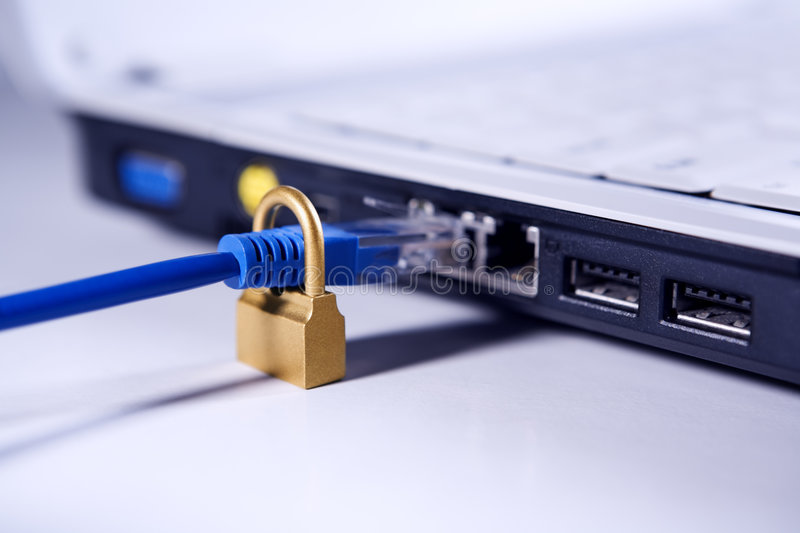 Download Secure LAN stock image. Image of port, lines, jack, online - 7286721