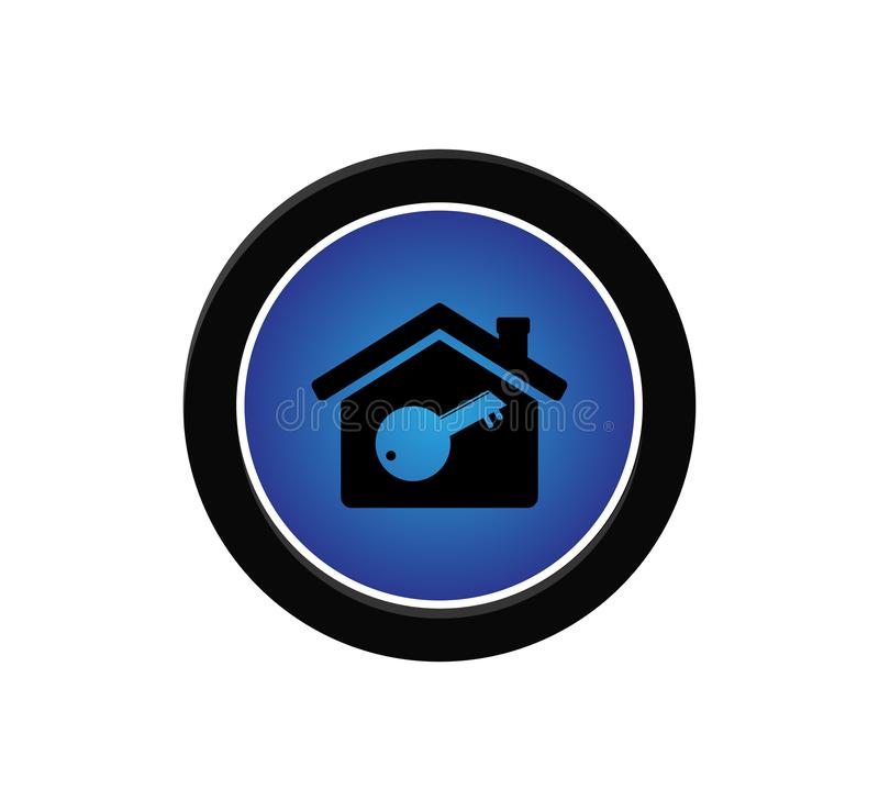 secure and lock house icon vector logo design royalty free illustration