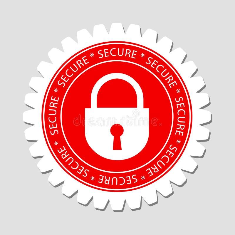Secure Lock Sign Label royalty free illustration