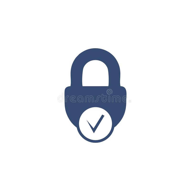 Secure logo template stock illustration