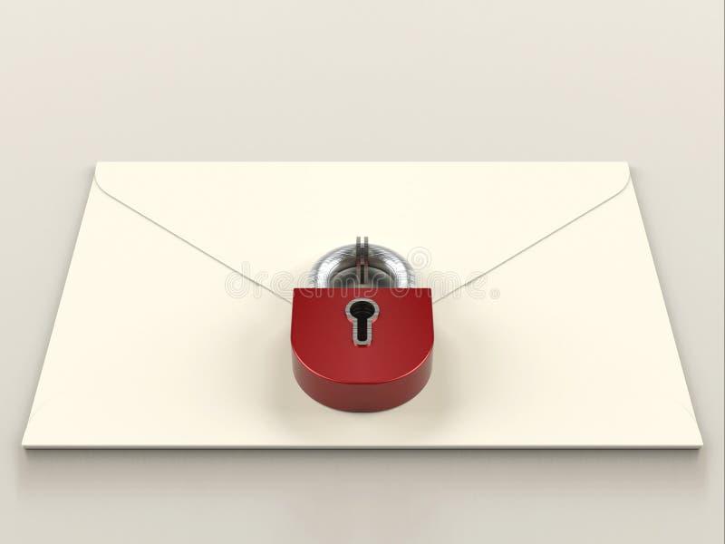 Secure mail vector illustration