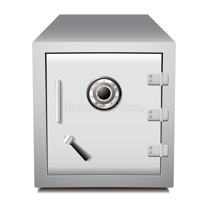 Secure Metal Safe Royalty Free Stock Images