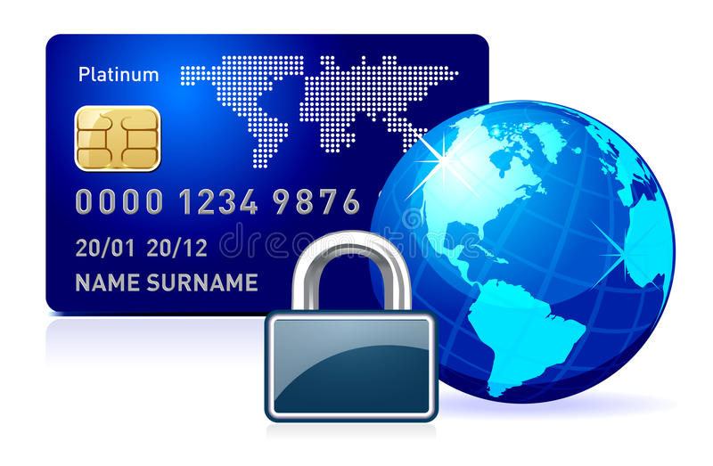Secure online payment. stock illustration