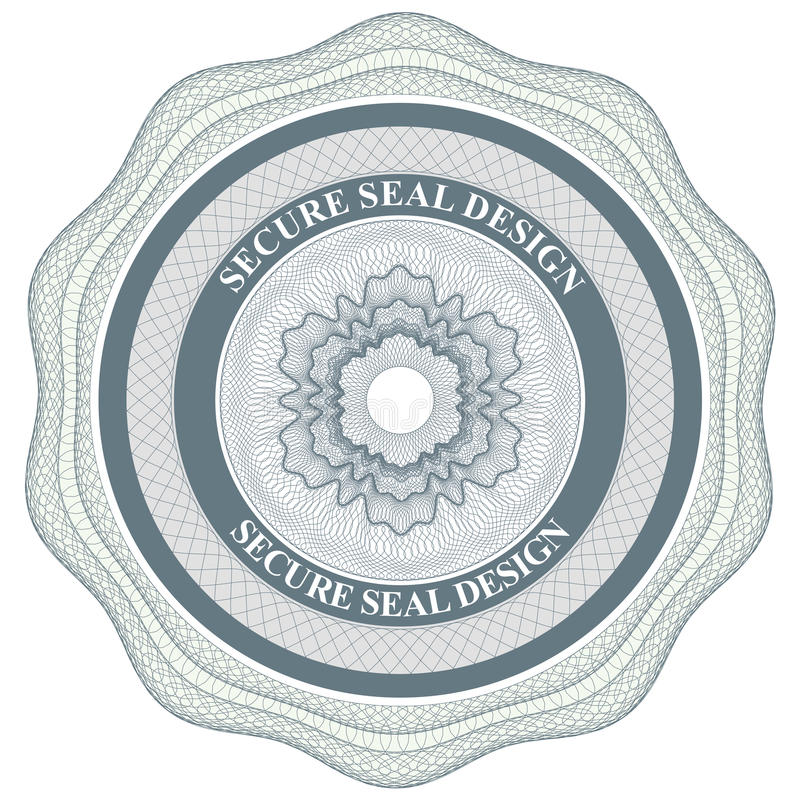 Secure seal vector illustration