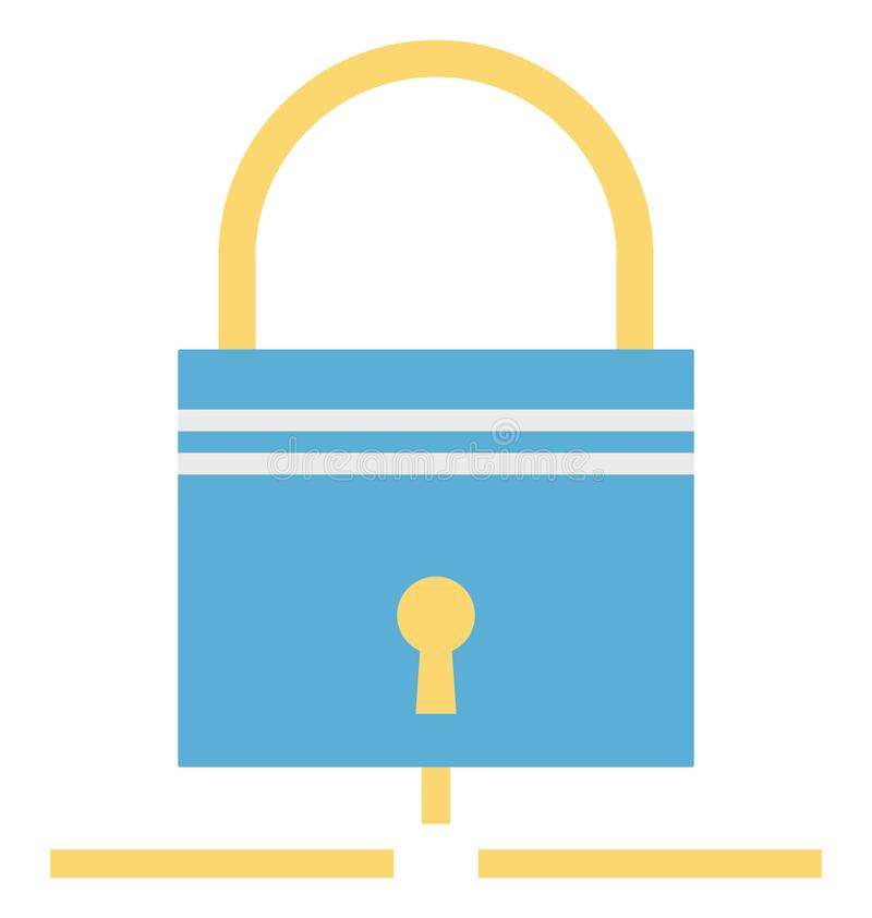 Secure Sharing, Lock Vector Icon editable stock illustration
