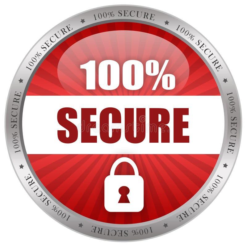Secure shiny icon stock illustration