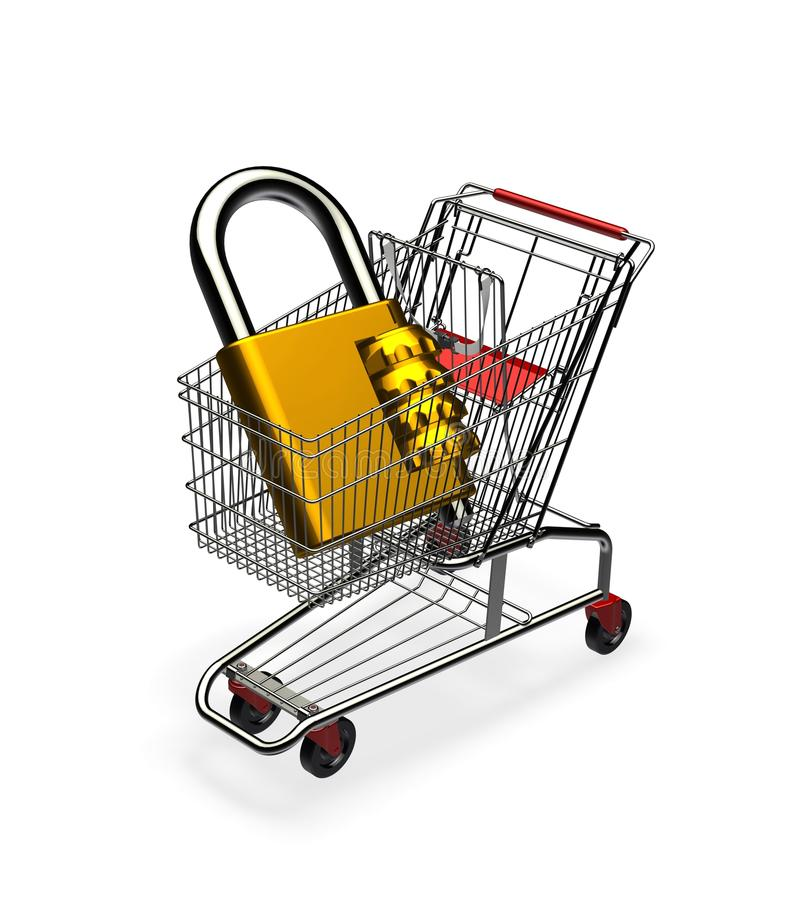 Secure Shopping Stock Image