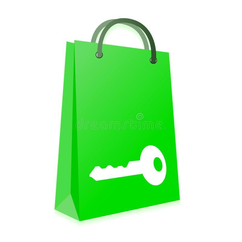 Download Secure shopping stock illustration. Illustration of metaphor - 32203759