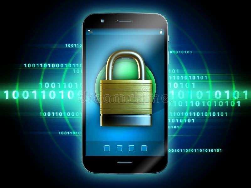 Secure smartphone vector illustration