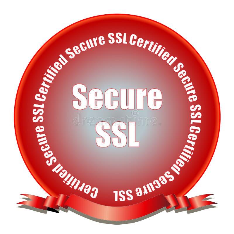 Secure SSL Seal vector illustration
