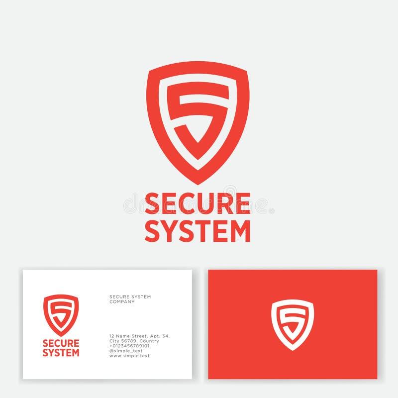 Free Secure System Logo. Orange Letter In The Shield. S Monogram. Stock Image - 154189061