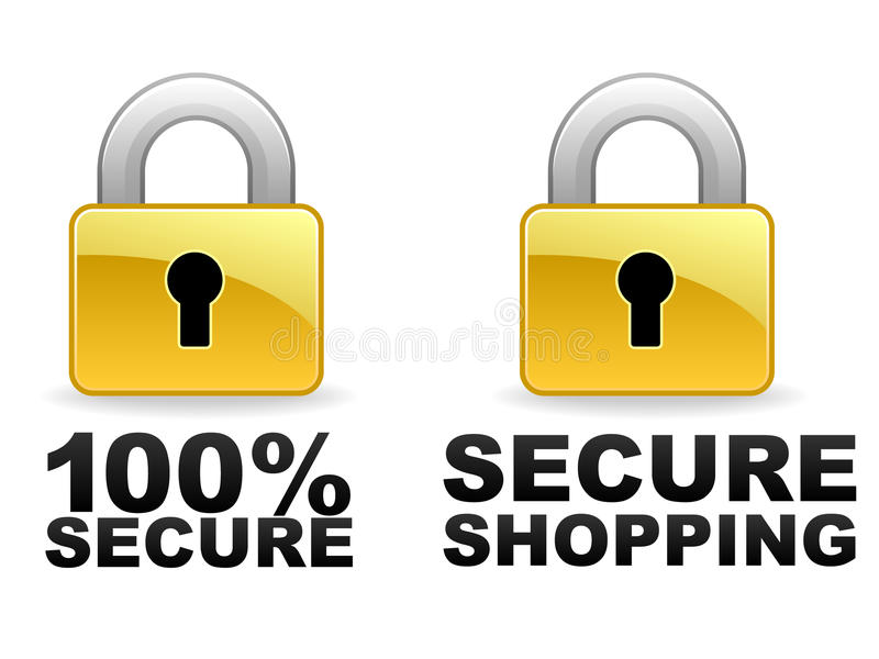Secure Web Banners stock illustration