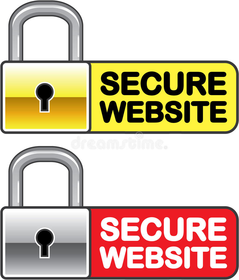 Secure Website Symbol Icon Vector Stock Vector Illustration Of