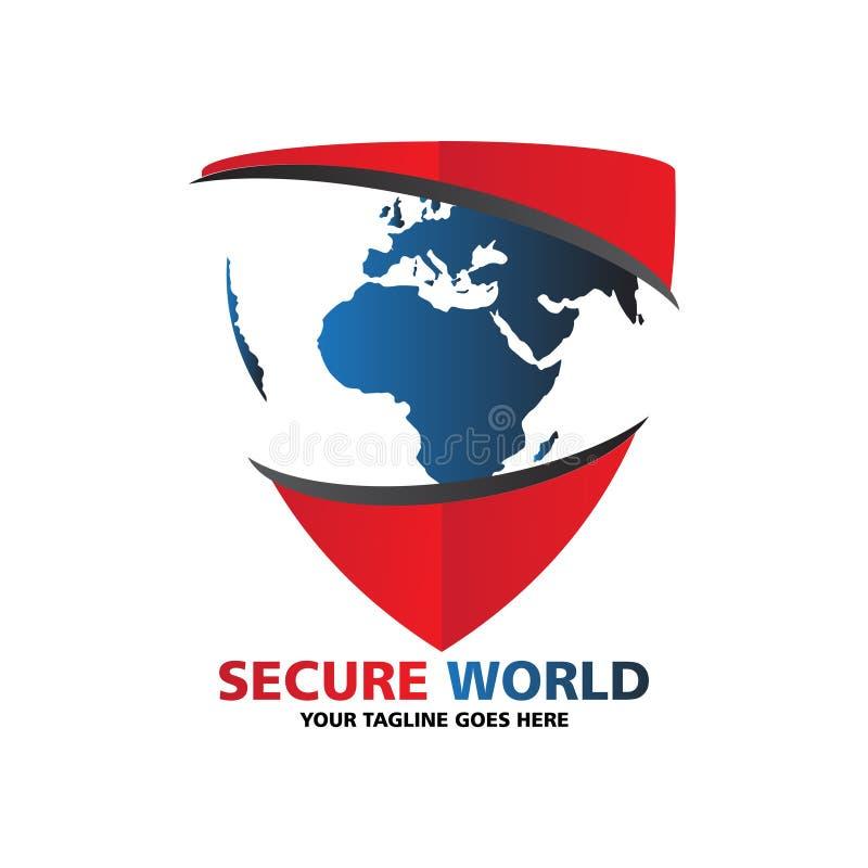 Secure world logo stock illustration