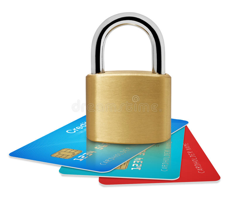 Secure your cards royalty free stock photos
