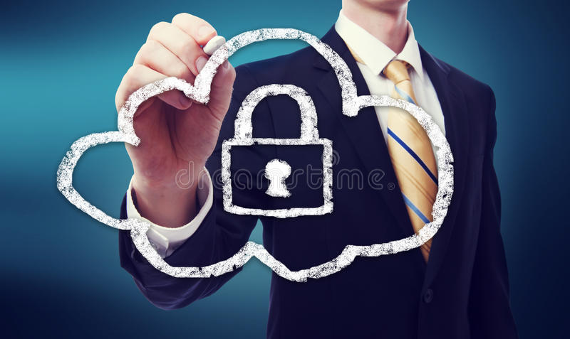 Secured Cloud Computing royalty free stock photos