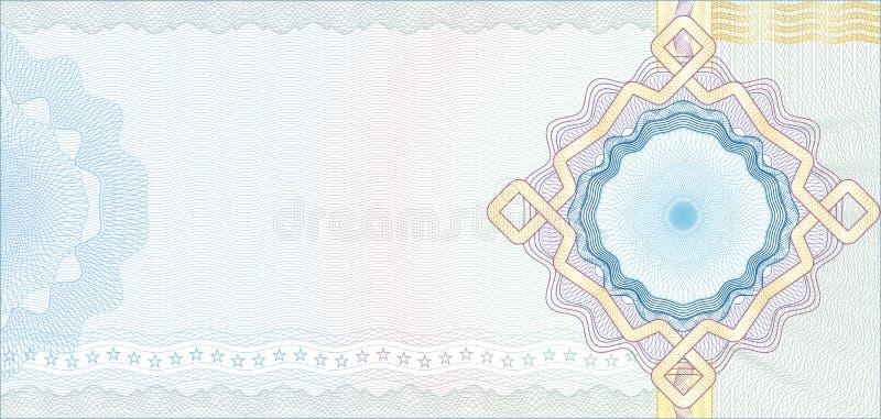 Secured Guilloche Background for Voucher stock illustration