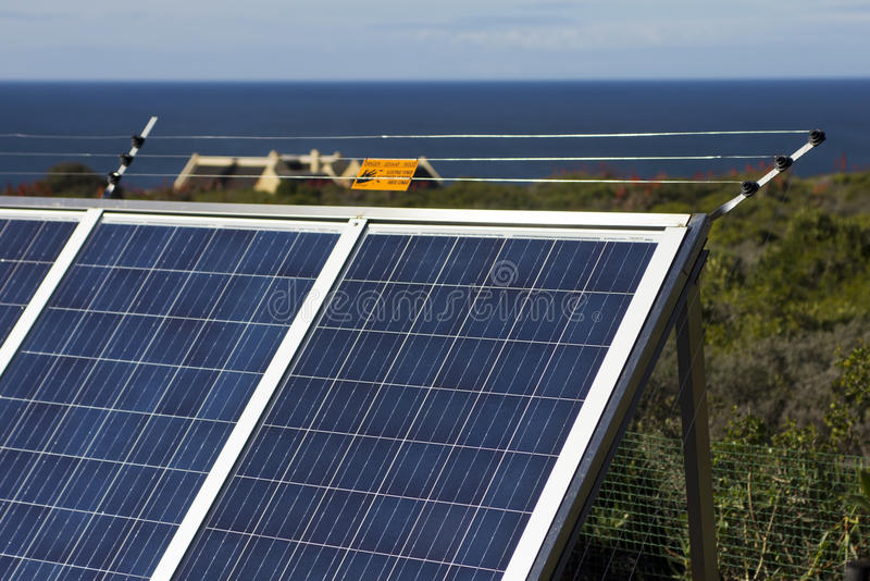 Download Securing solar panels stock photo. Image of electrified - 31273018
