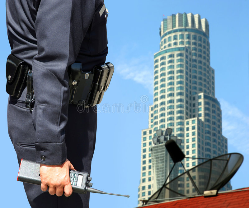 Security agent surveillance royalty free stock image
