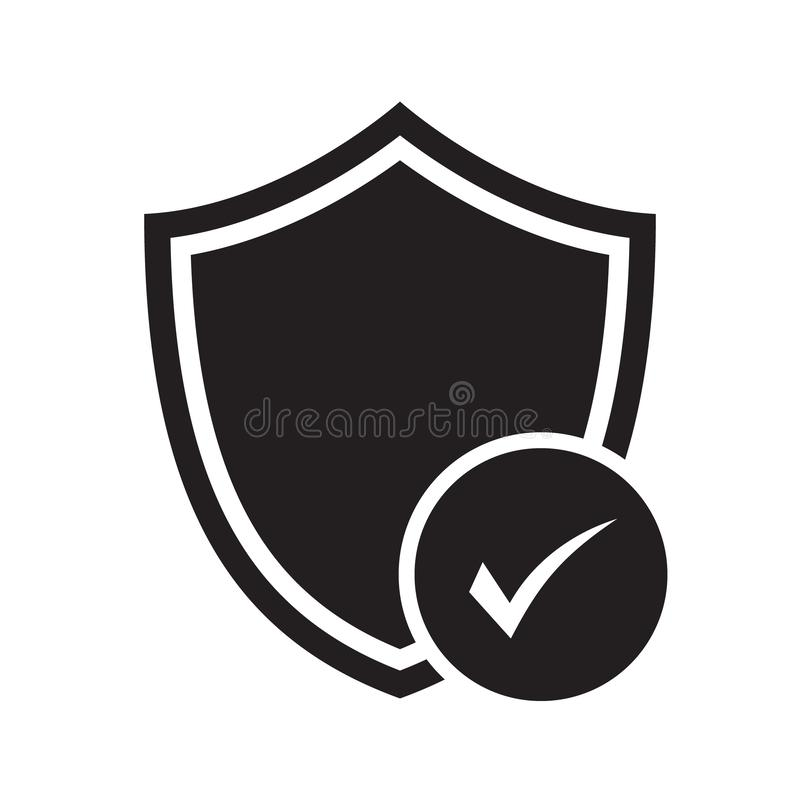 Security approval check icon. Digital protection and security data concept royalty free illustration