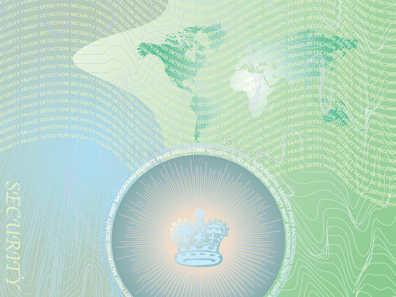 Security background green. An abstract business background illustrated with security features