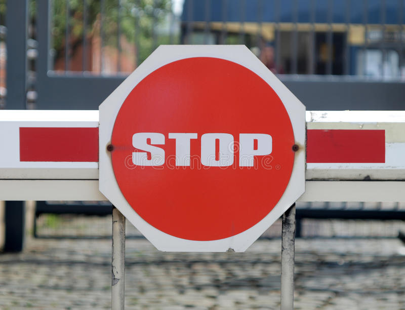 Download Security barrier stock image. Image of stop, wait, entrance - 10492291