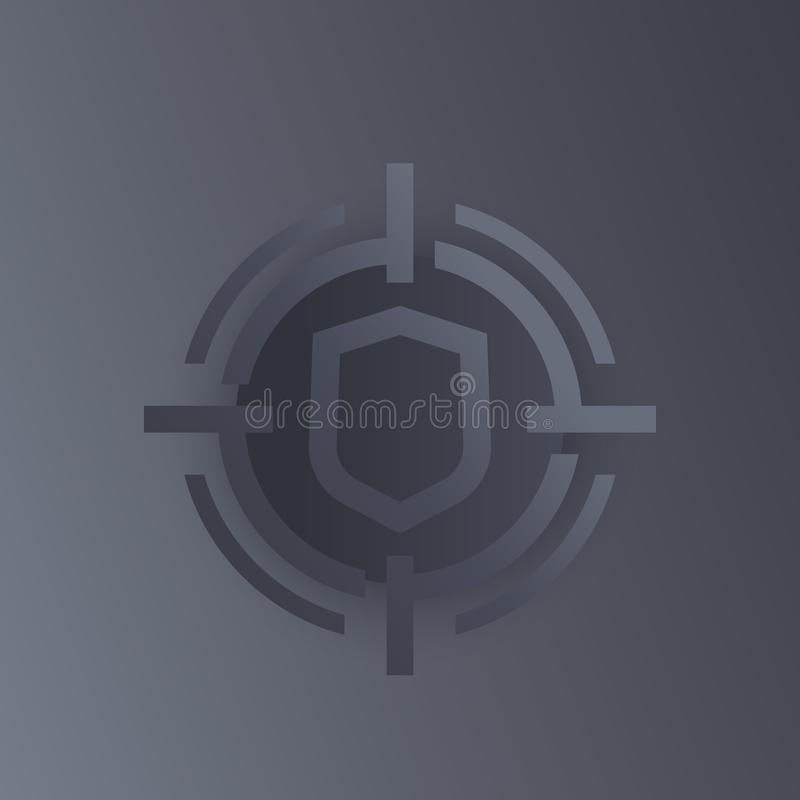Security breach, data protection icon. Eps 10 file, easy to edit vector illustration