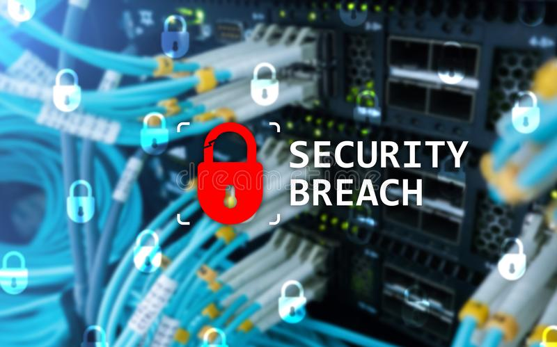 Security breach detection, Cyber protection. Information privacy.  stock images