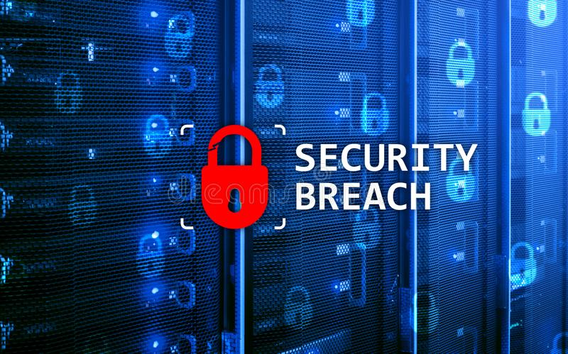 Security breach detection, Cyber protection. Information privacy.  royalty free stock photos