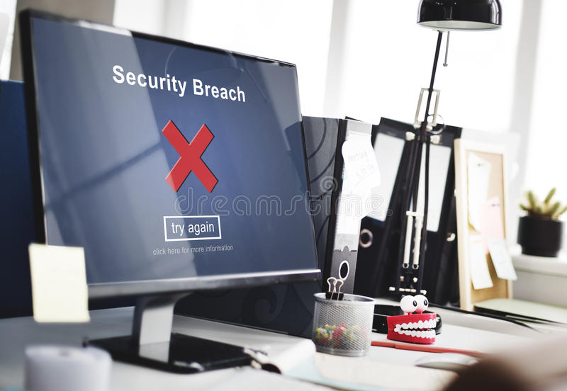 Security Breach Hacker Cyber Crime Privacy Policy Concept royalty free stock images